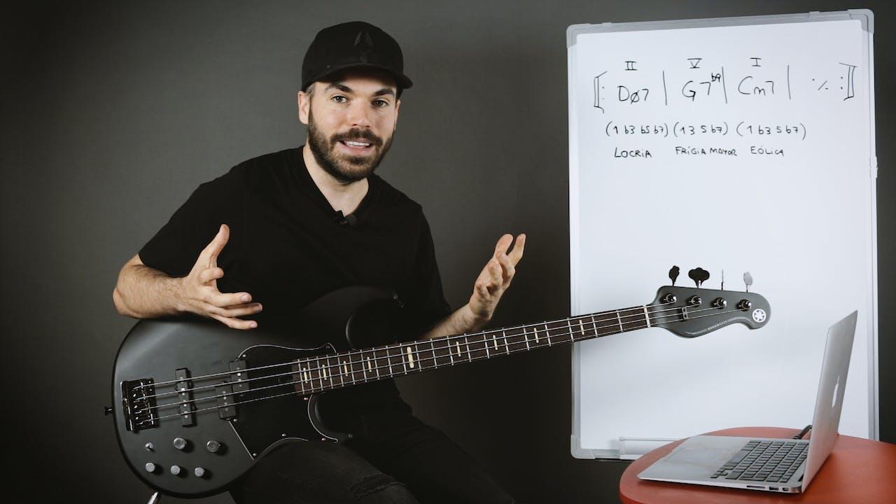 Introducción al Jazz - Walking bass - Construyendo líneas Walking sobre 2-5-1 menores